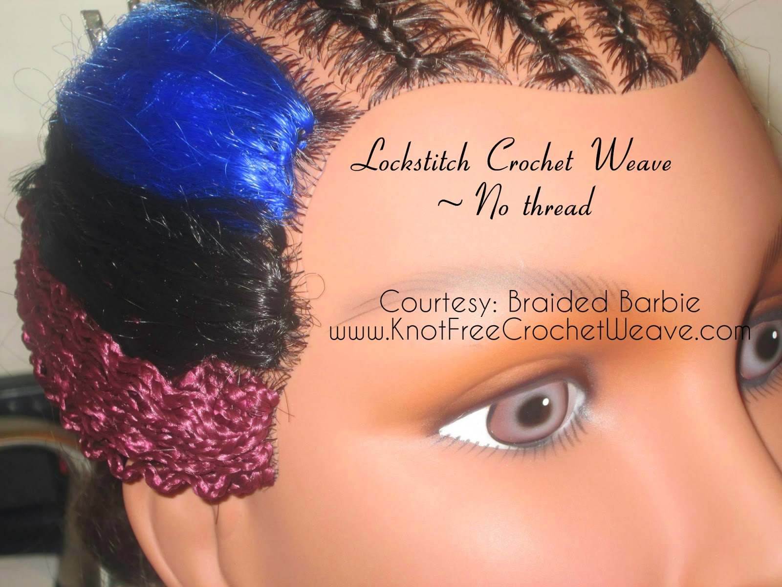 Crochet Invisible Knot Braids