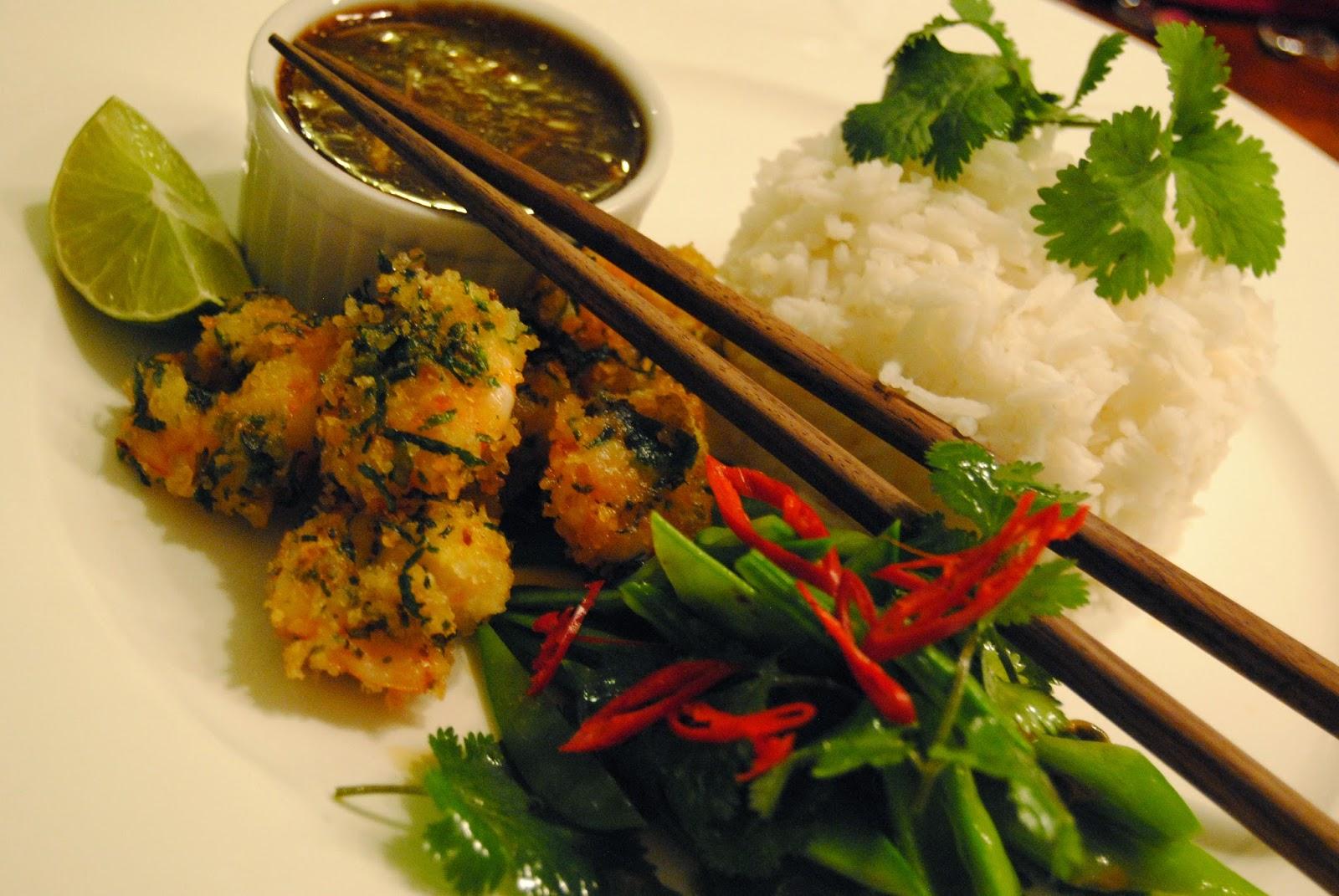 Rezept Asia Garnelen mit Zuckerschoten-Salat
