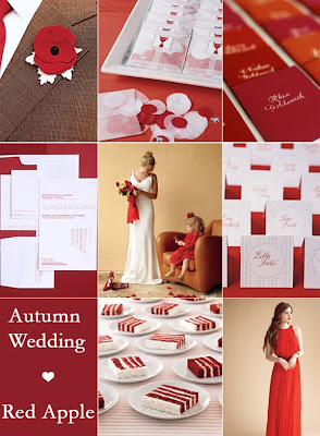 red wedding decor