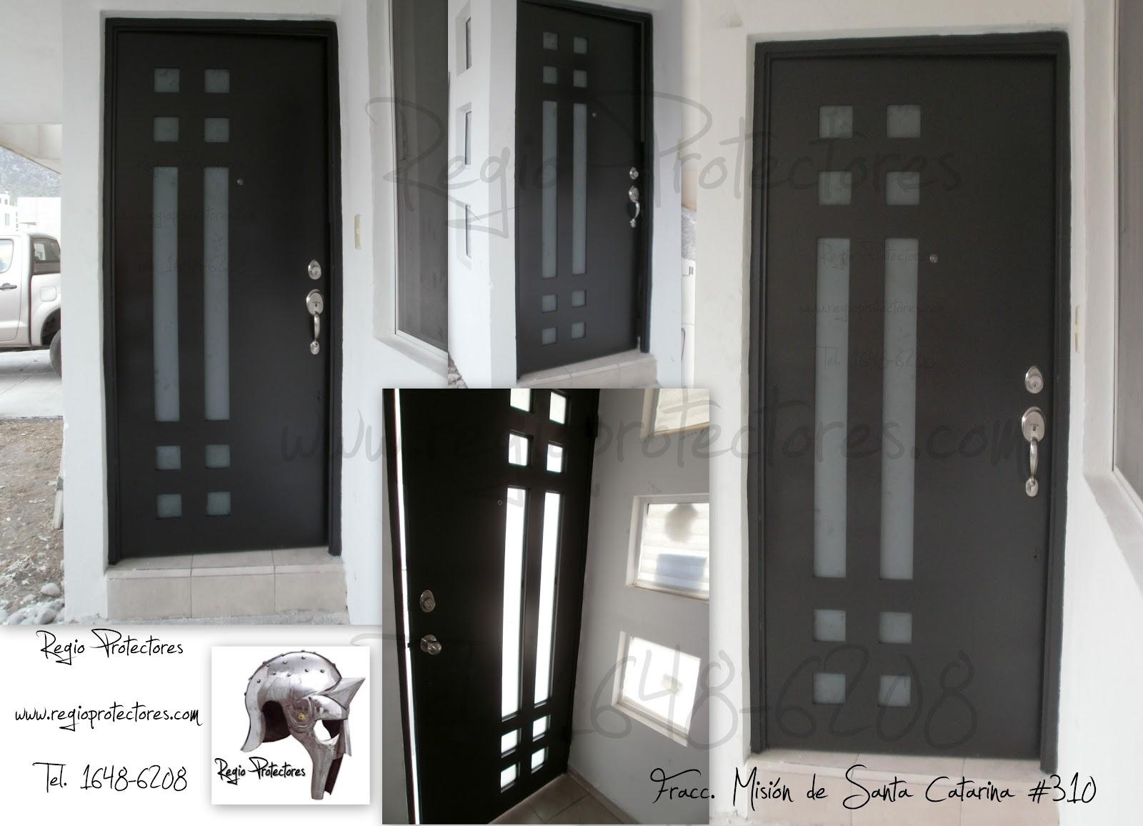 Regio protectores puerta de hierro estilo contempor neo for Puertas de hierro forjado para casas