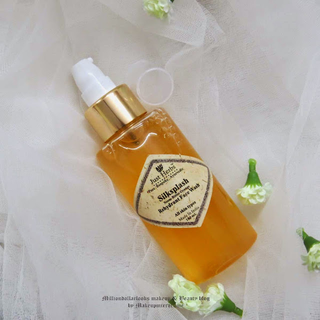 Just Herbs Silk Splash Rehydrant Face Wash Review, Pictures and Price, Indian makeup and beauty blog, indian beauty blogger, Just herbs products, best face wash for all skin types, herbal face wash, just herbs review, Indian skincare brands, Just herbs silk splash face wash review india, Where to buy just herbs products
