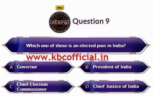 Ghar Baithe Jeeto Jackpot Question No 09 - Episode no 04 Dated 21st August 2014 - KBC GBJJ