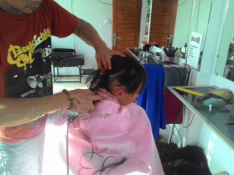 Detik-detik rambut Geo dicukur