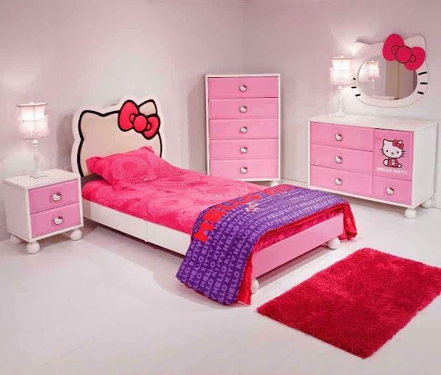 Tempat Tidur Kartun Hello Kitty