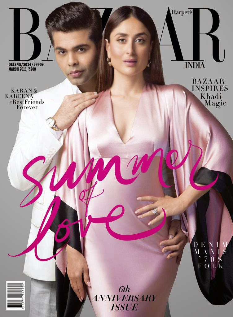 Film Actress, Fashion Designer: Kareena Kapoor - Harper's Bazaar India March 2015