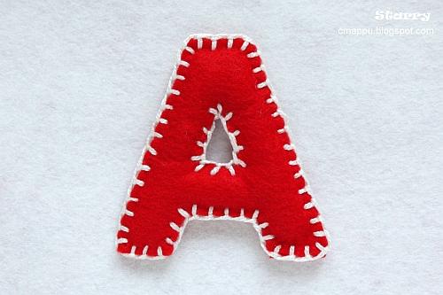 Как сделать буквы из фетра