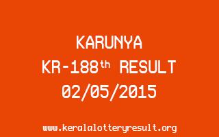 Karunya KR 188 Lottery Result 2-5-2015