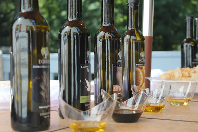 Olive oil tasting for Italian-themed bridal shower