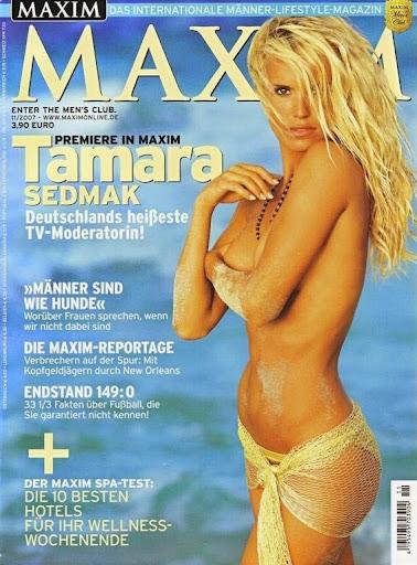 Nackt Bilder : Tamara Sedmak German Maxim November 2007   nackter arsch.com