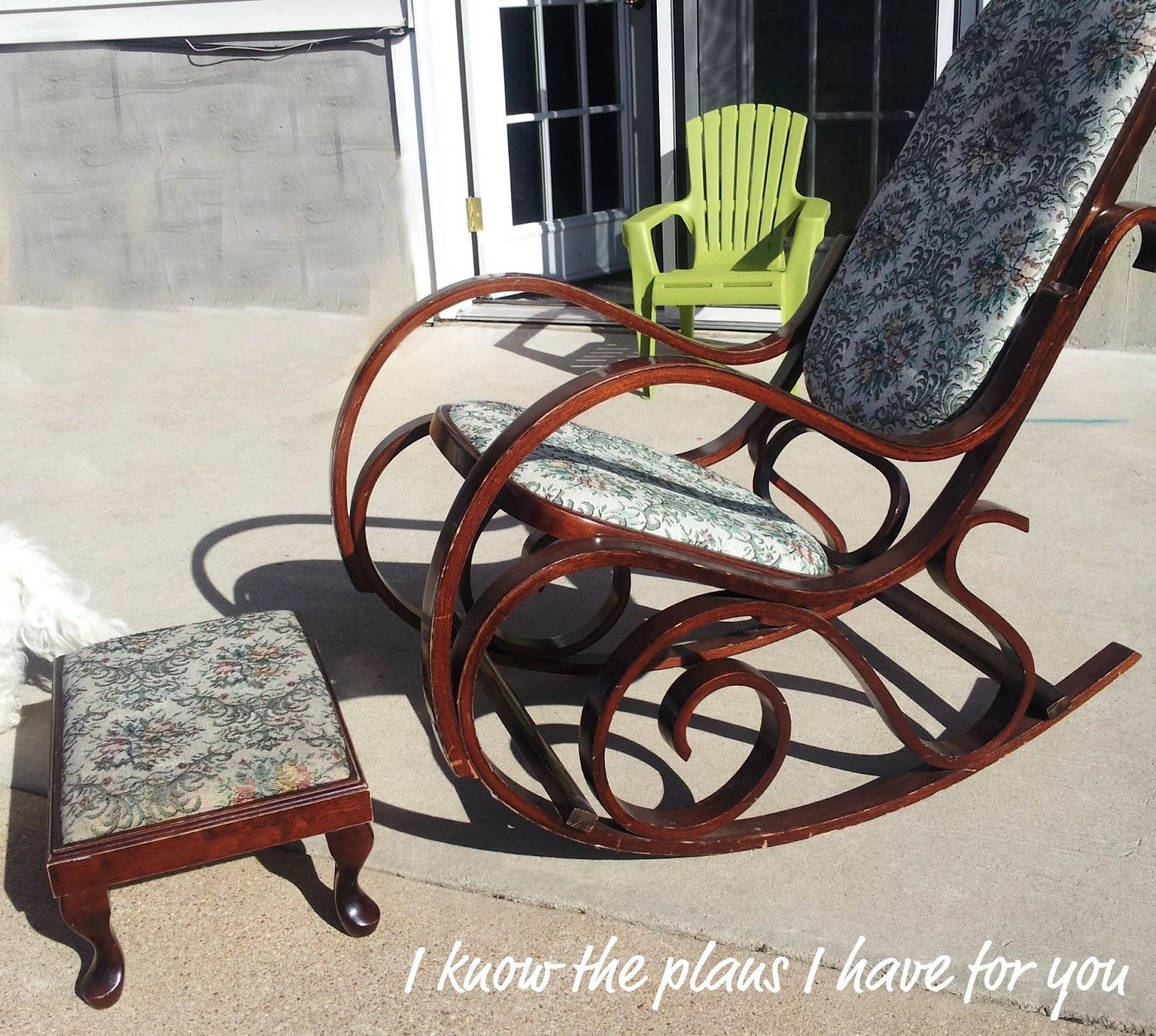 Original white painted bentwood rocking chair is no longer available - I First Painted It Using Ascp Old White I Hand Painted 2 Coats Of Paint Which Was No Small Task In Itself I Would Normally Spray It But I Just Wanted To