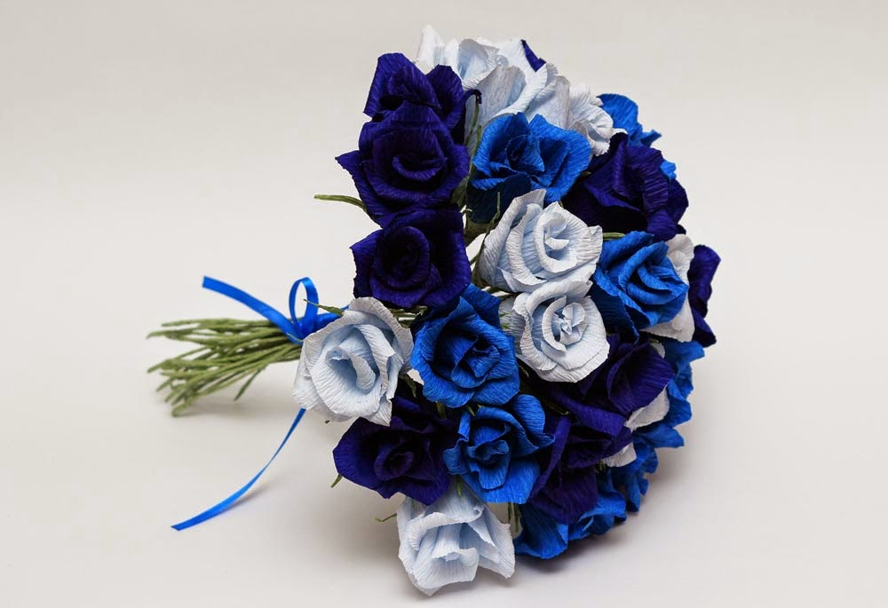 Blue Wedding Flower Decoration Design Ideas Images hd