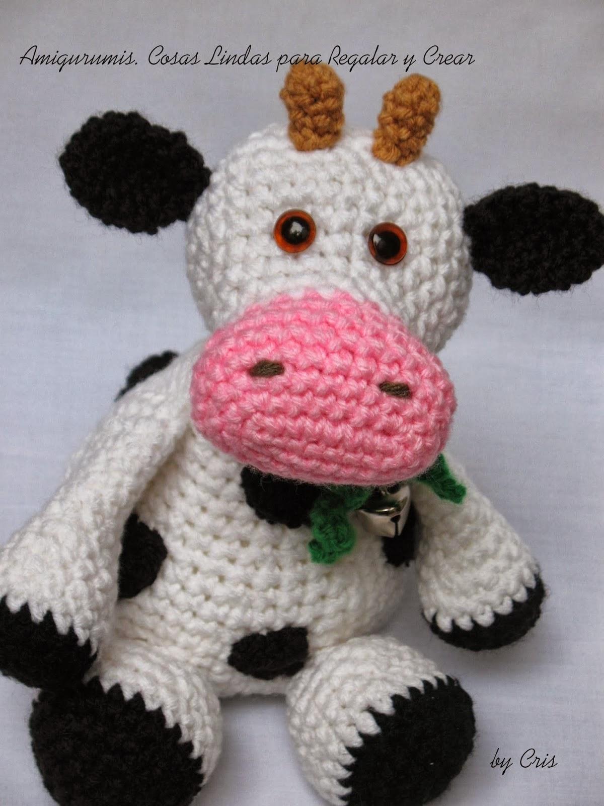 Amigurumis . Cosas Lindas: MARGARITA ... Vaca Amigurumi !!