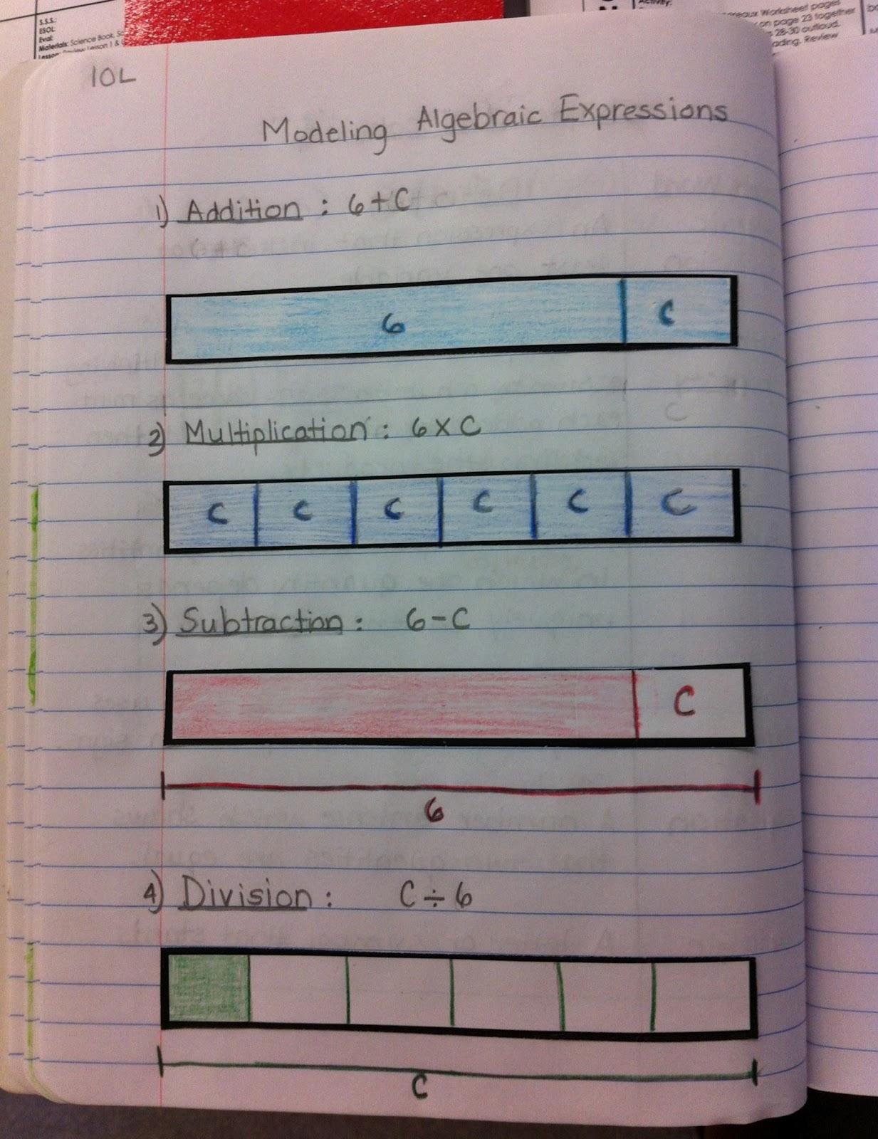 Algebraic+Expressions+Model+4th+Grade Algebraic Expressions Model 4th ...