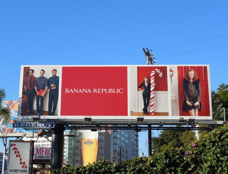 Candy cane Banana Republic billboard