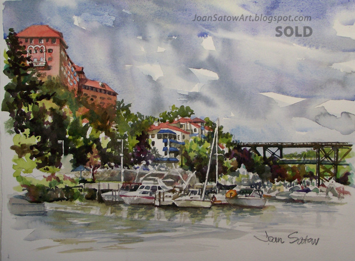 Joan satow rocky river and west 24th cleveland watercolors for Sweetwater affiliate program