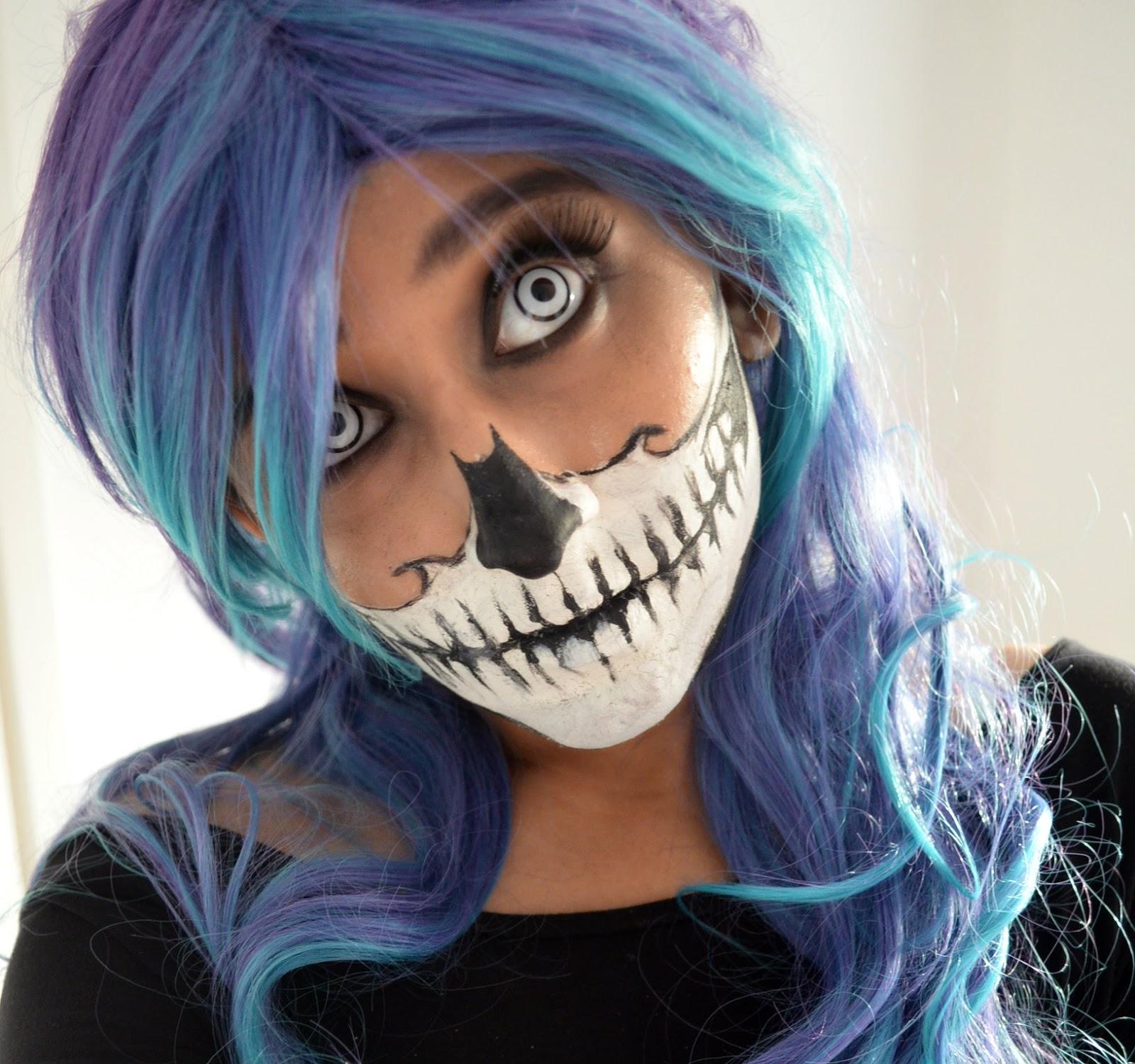 MishMreow: Skull Mask Halloween Makeup