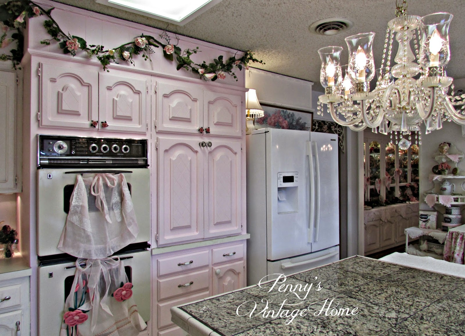 Penny 39 s vintage home pink kitchen cabinets - Pink kitchen cabinets ...