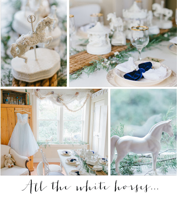White Horses for Christmas at www.vintagewhitesblog.com