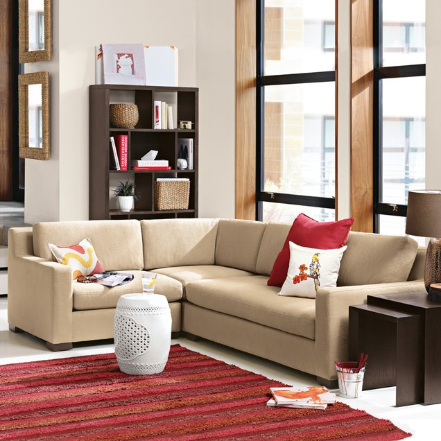 with wooden shelves small living room design with simple furniture