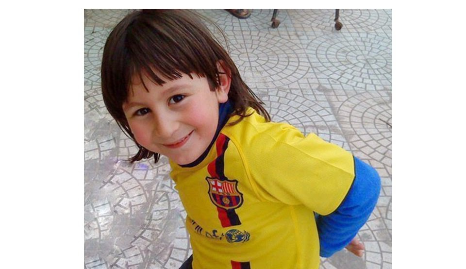 messi childhood jersy