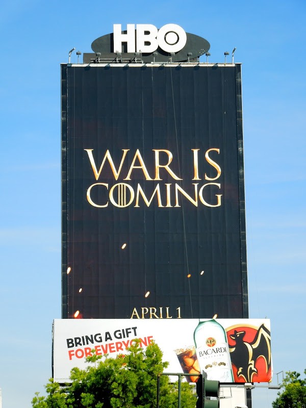 Game of Thrones season 2 billboard