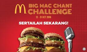 Nak Menang Cash Sebanyak 10k?! Jom Join Cabaran Big Mac Chant Ni! Wohoooo!