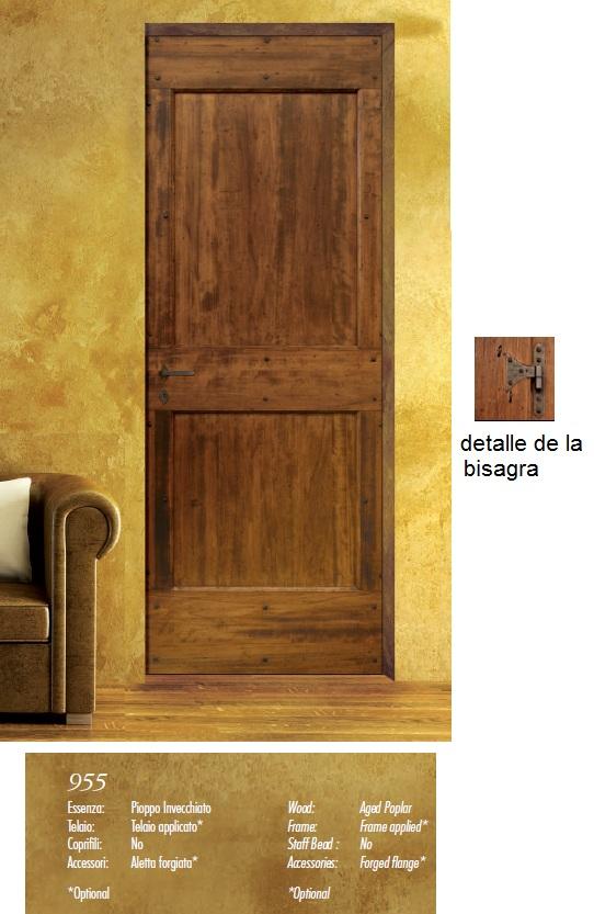 Made of wood puertas rusticas serie antiqva for Puertas rusticas de madera interior