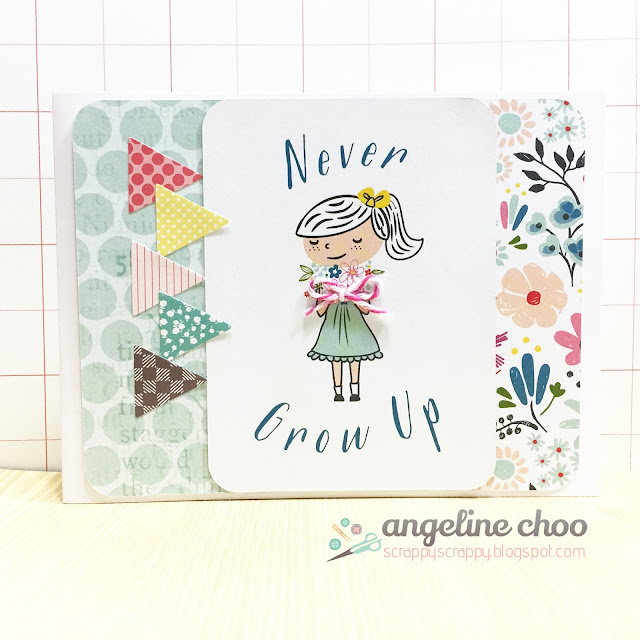 ScrappyScrappy: Never Grow Up #scrappyscrappy #dearlizzy #card