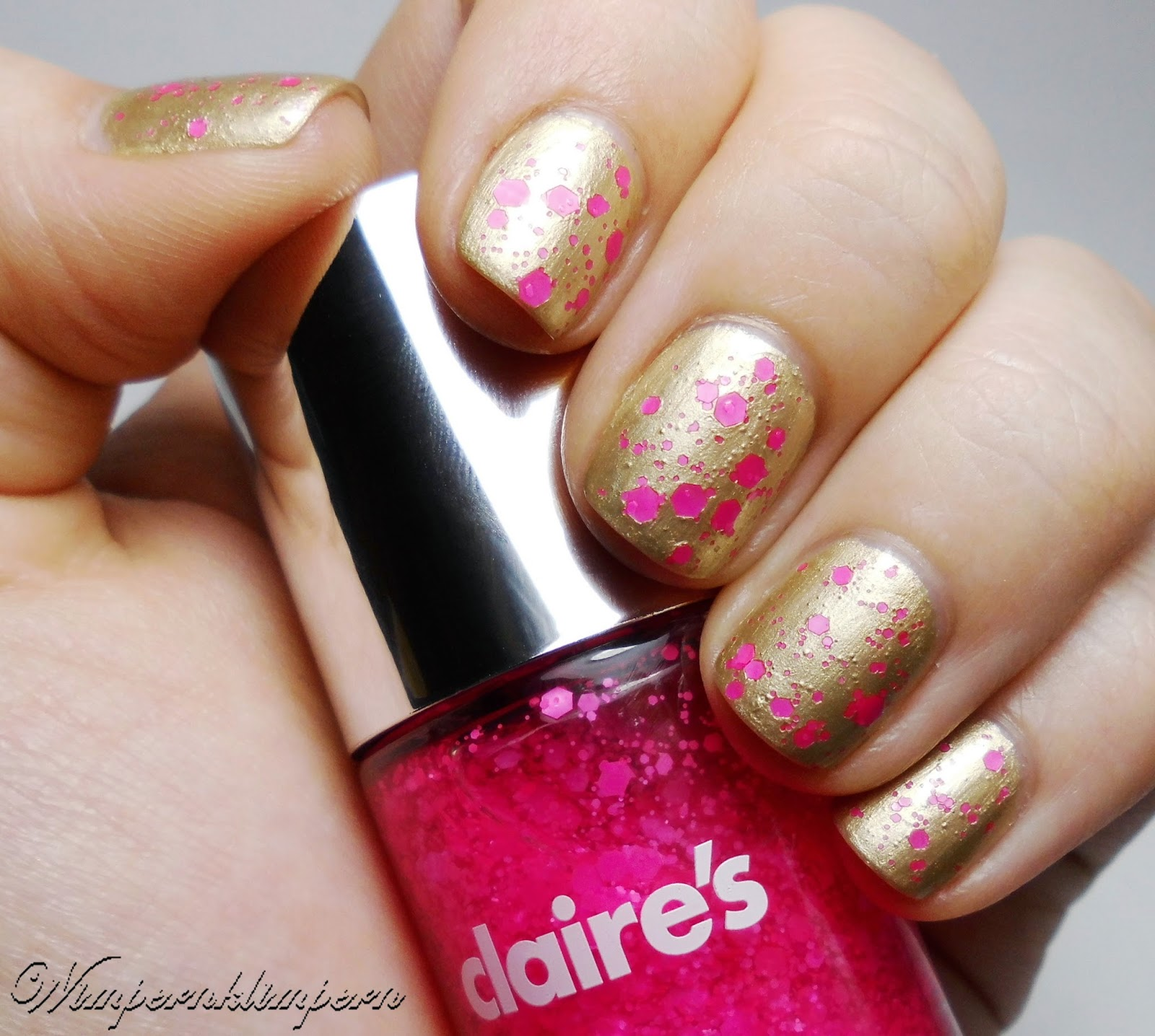 Nageldesign Gold Pink komplett