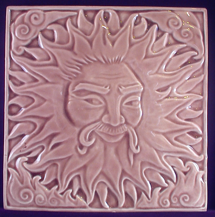 Decorative handmade ceramic tile june
