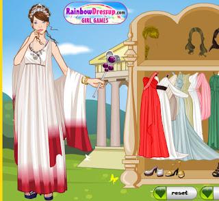 Juego de vestir a la diosa del amor
