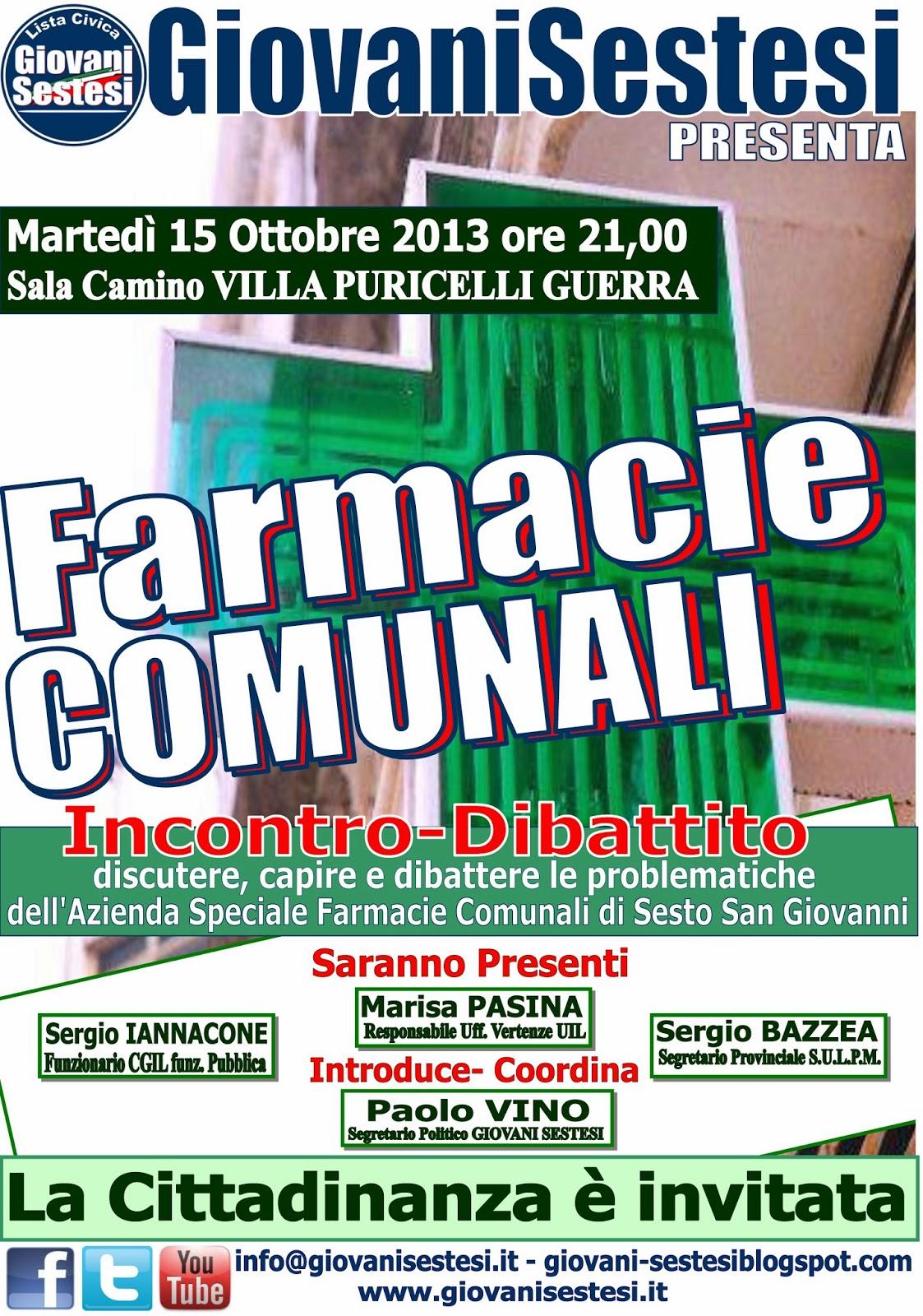 Giovani sestesi comunicato stampa 13 ottobre 2013 for Villa puricelli