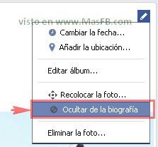 Ocultar Biografía Facebook 2013