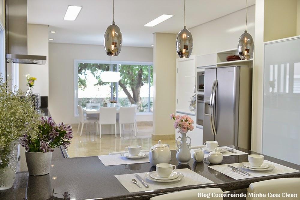 Cozinha Com Sala De Jantar De Luxo ~ Construindo Minha Casa Clean 12 Cozinhas de Luxo Modernas!!! Veja