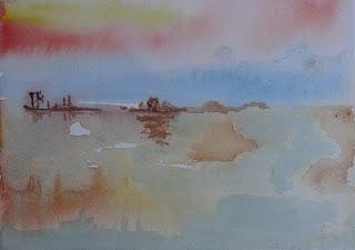 Barcos en alta mar - Parnalú (pintora chilena)