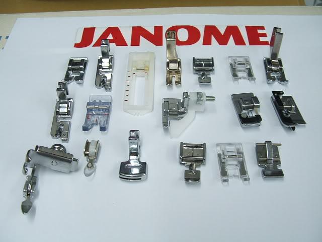 Accesorios para maquinas de coser janome 2012