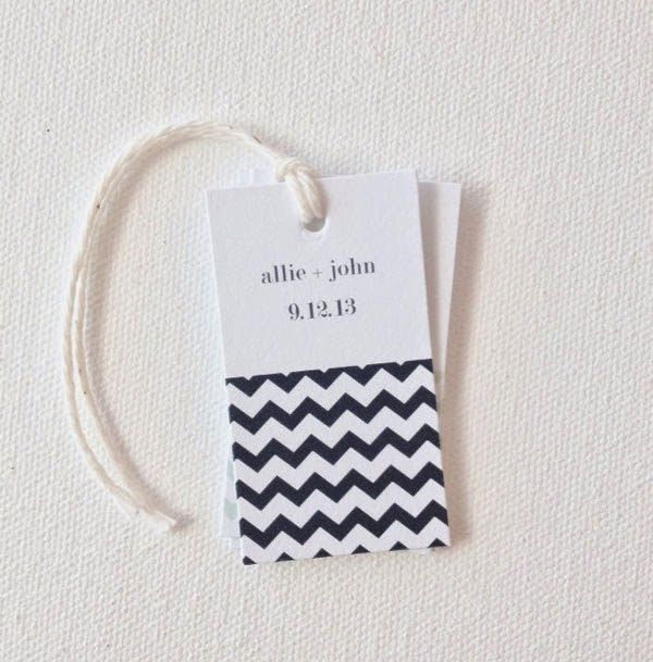 15 chevron wedding favor tags via print smitten