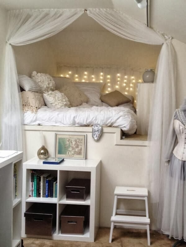 20 inspiring reading nooks design ideas the grey home for Bed nook ideas