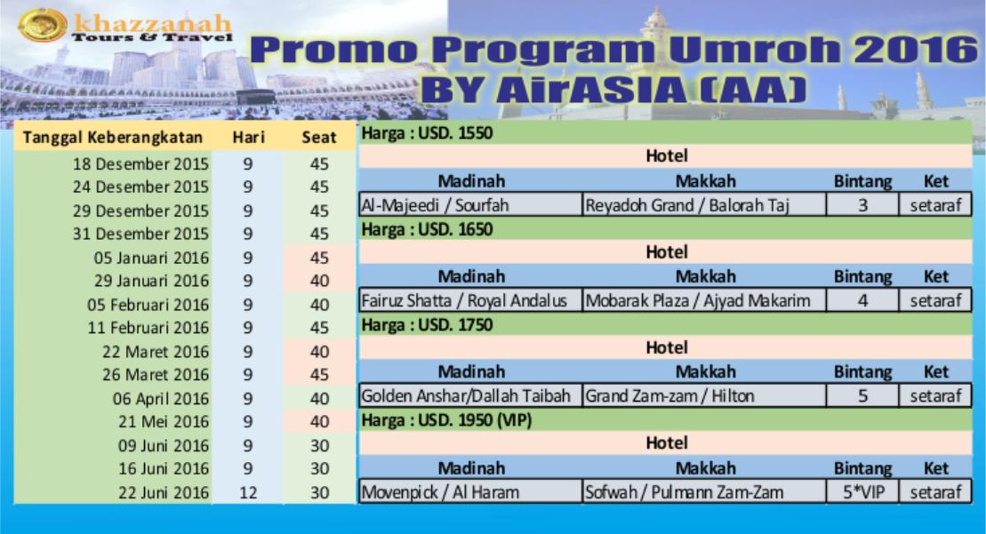 Khazzanah Tour Promo AA