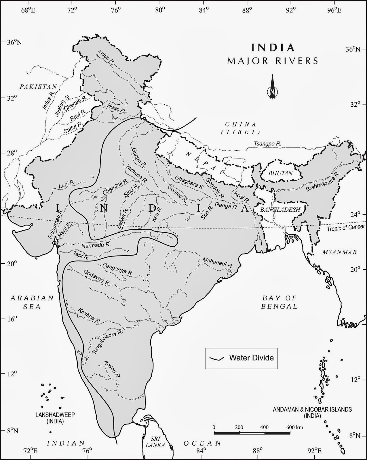 Staff Selection commission River Map of India