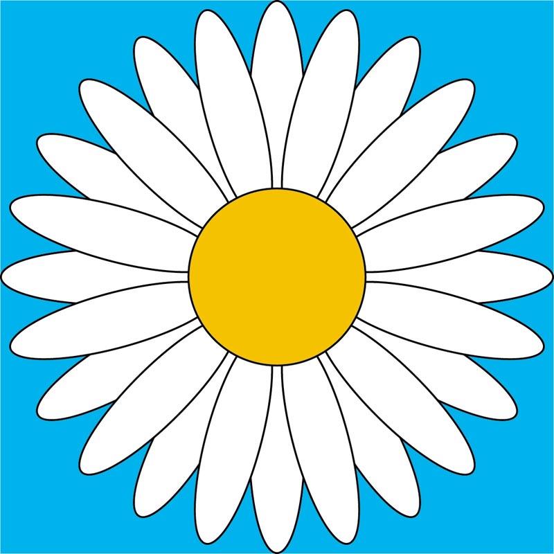 Dibujos a color ♥: ♥ Flores a color ♥ White Daisy Flowers Clipart