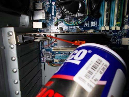 Rexco 18 (Contact cleaner) membersihkan komputer