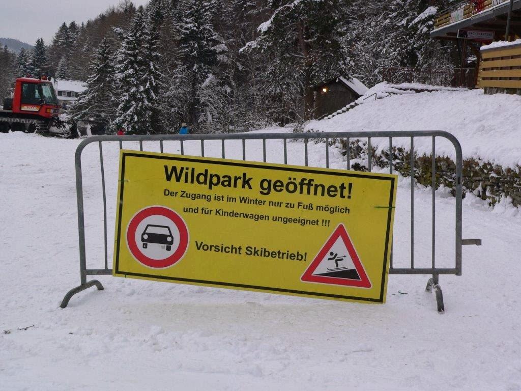 Wildpark Schnee Winter