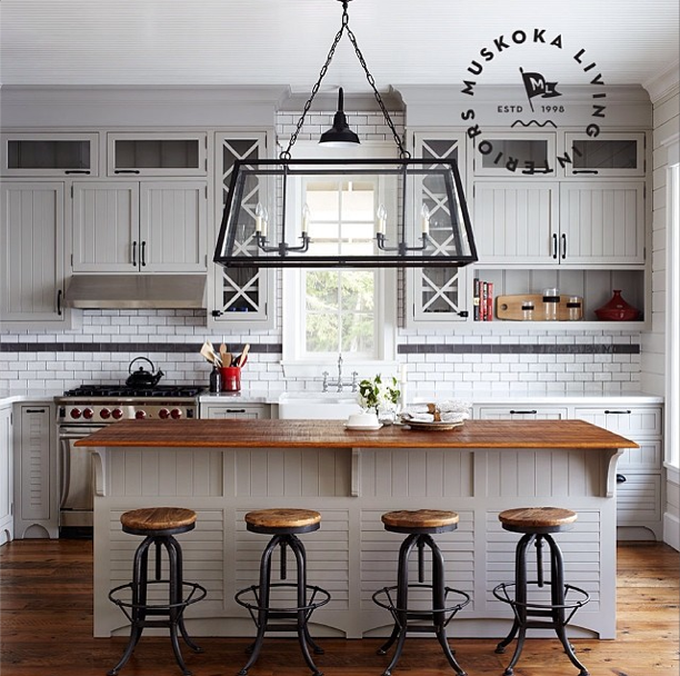 Kitchen Bar With Stove: Keep It Beautiful Designs: Cottage Living: Muskoka Living