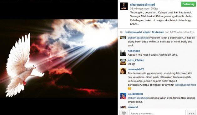 Sharnaaz Ahmad Putus Cinta Dengan Anis Al Idrus?, info, terkini, hiburan, sensasi, gossip, Shaarnaz Ahmad, Anis Al Idrus
