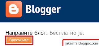 Otvorite sopstveni blog za samo nekoliko sekundi.