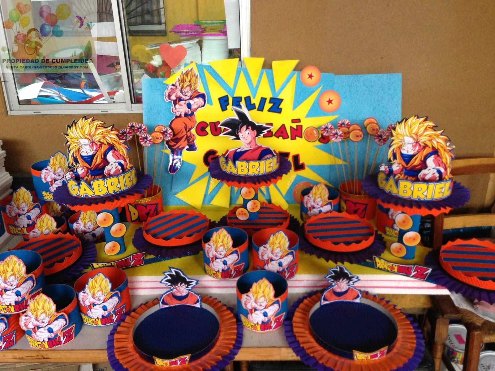 Decoraciones infantiles dragon ball z - Decoracion de centros de mesa ...