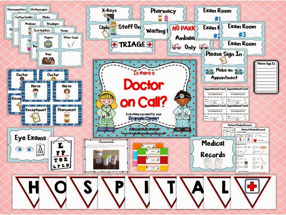 https://www.teacherspayteachers.com/Product/HospitalDoctors-Office-Dramatic-Play-Center-1247878