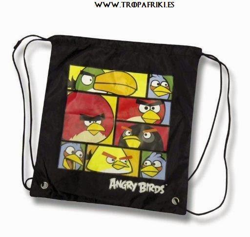 mochilas frikis de cuerdas Bolsa de cuerdas Angry Birds 10,20€