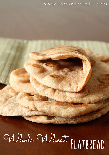 Whole Wheat Flatbread #recipe via The Taste Tester